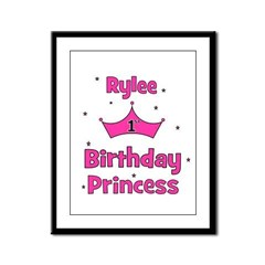 1st Birthday Princess Rylee! Framed Panel Print