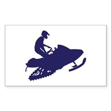 Snowmobiler in Navy Blue Decal