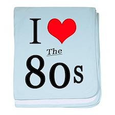 'I Love The 80s' baby blanket