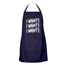 'I Want!' Apron (dark)