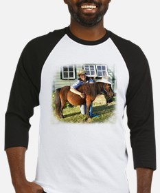 4-H Pigtail Cowgirl (fuzzy edges) Baseball Jersey