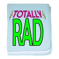 'Totally Rad' baby blanket