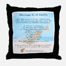 Amy's Message In A Bottle Throw Pillow