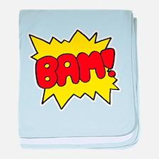 Comic 'Bam!' baby blanket