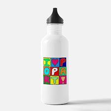 'Love Pop Art' Water Bottle