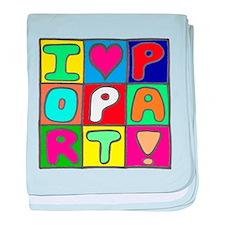 'Love Pop Art' baby blanket