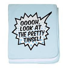'Ooooh, Pretty Tinsel!' baby blanket