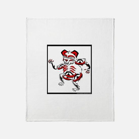 Medicine wheel animal Throw Blanket