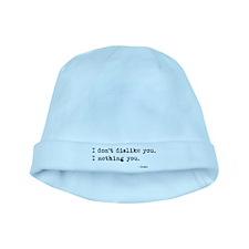 'I Nothing You' baby hat