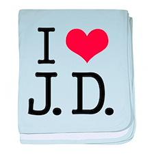 'I Love J.D.' baby blanket