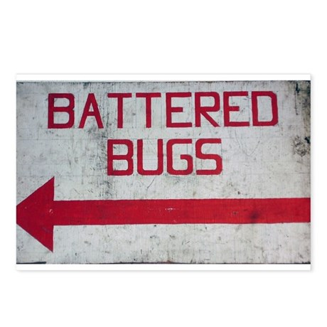 """""""Battered Bugs"""" Postcards (Package of 8)"""