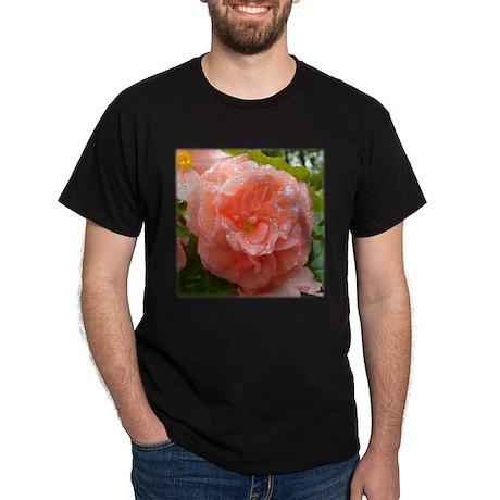 Begonia Black T-Shirt