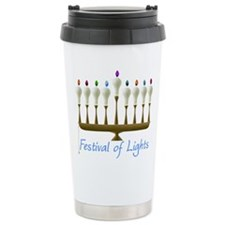 Chanukah Lights Travel Coffee Mug