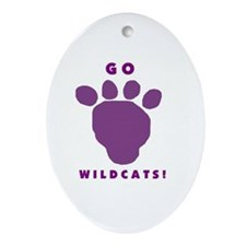 Go Wildcats ! Oval Ornament