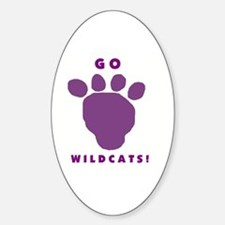 Go Wildcats ! Oval Decal