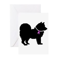 Chow Chow Breast Cancer Suppo Greeting Card