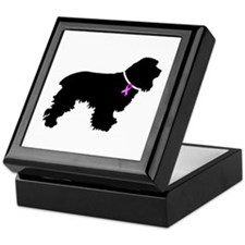 Cocker Spaniel Breast Cancer Keepsake Box