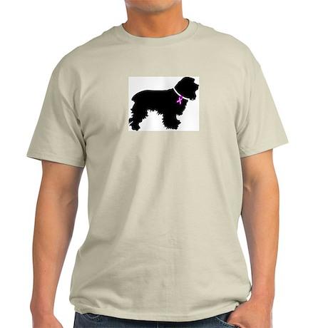 Cocker Spaniel Breast Cancer Light T-Shirt