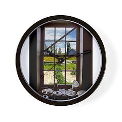 Garden Window Wall Clock