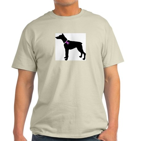 Doberman Pinscher Breast Canc Light T-Shirt