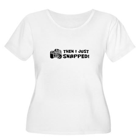 SNAPPED! Women's Plus Size Scoop Neck T-Shirt