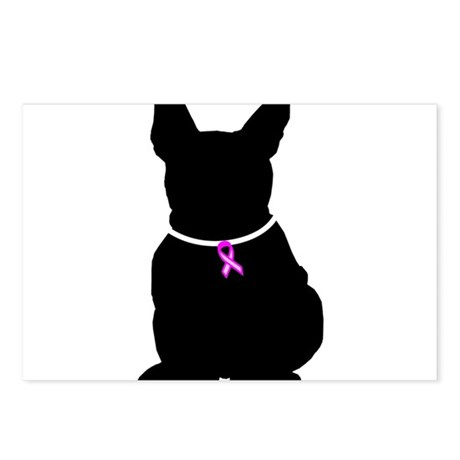 French Bulldog Breast Cancer Postcards (Package of