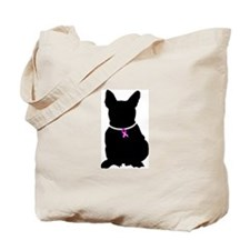 French Bulldog Breast Cancer Tote Bag