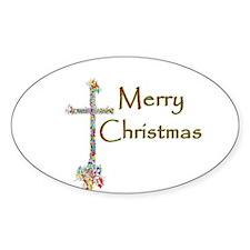 Christmas Cross Decal