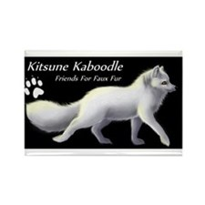 Unique Kitsune kaboodle Rectangle Magnet