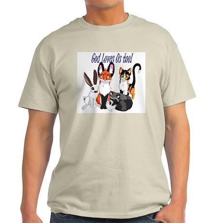 God Loves Us Too Light T-Shirt