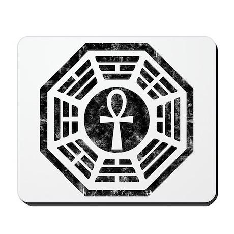Dharma Black Ankh Mousepad