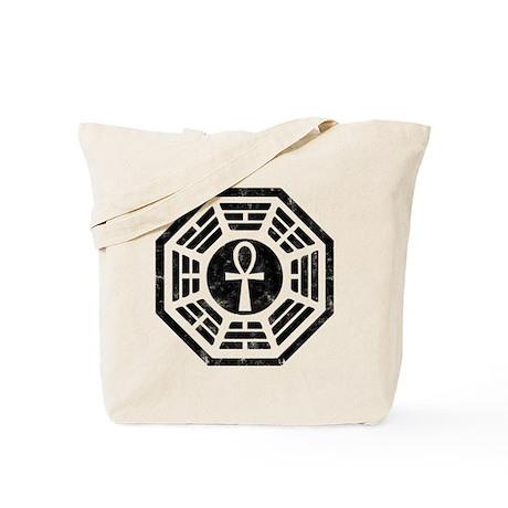 Dharma Black Ankh Tote Bag