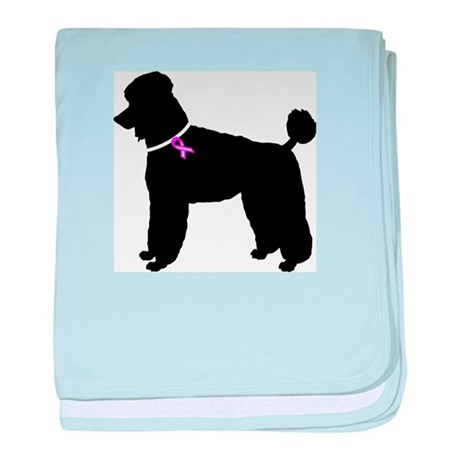 Poodle Breast Cancer Support baby blanket