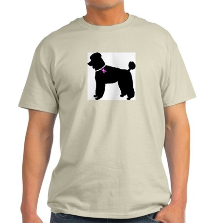 Poodle Breast Cancer Support Light T-Shirt