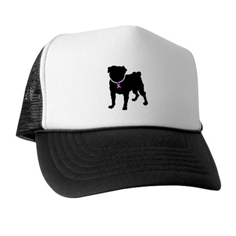 Pug Breast Cancer Support Trucker Hat