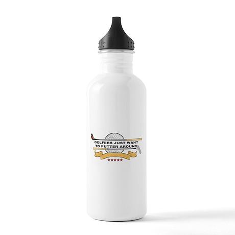 Golfers Putter Around Stainless Water Bottle 1.0L