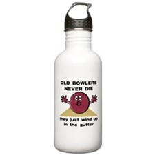 Old Bowlers Never Die Water Bottle