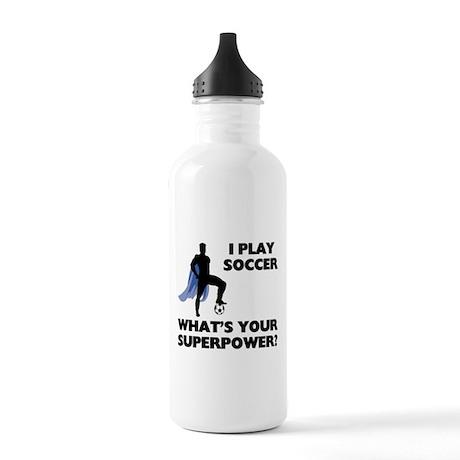 Soccer Superhero Stainless Water Bottle 1.0L