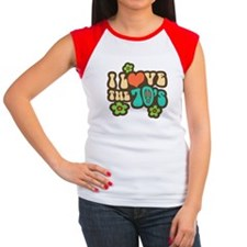 I Love The 70's Women's Cap Sleeve T-Shirt