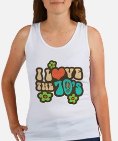 I Love The 70's Women's Tank Top