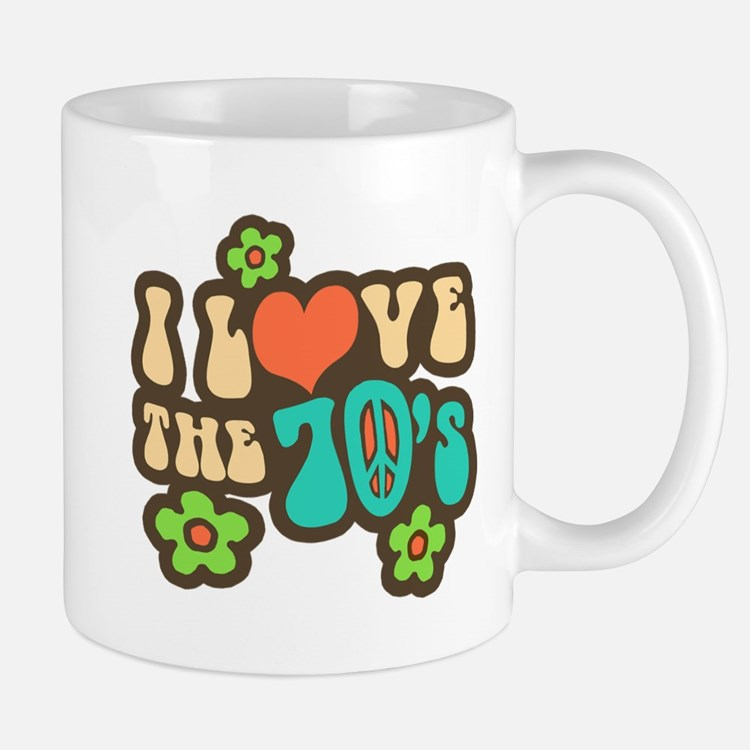I Love The 70's Small Small Mug
