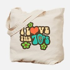 I Love The 70's Tote Bag