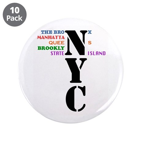 """NYC Big Apple All-Stars 3.5"""" Button (10 pack)"""