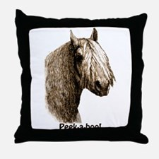 Peek a boo Pony Throw Pillow