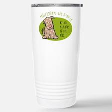 Funny Dog Handler Stainless Steel Travel Mug
