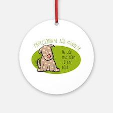 Funny Dog Handler Ornament (Round)