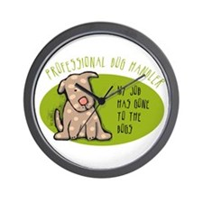 Funny Dog Handler Wall Clock