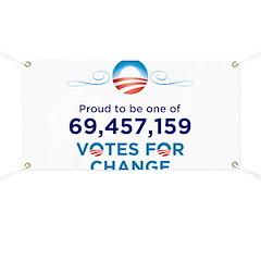 Obama: 69,457,159 Votes for C Banner