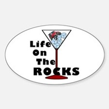 On Rocks Martini Decal