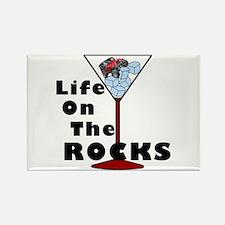 On Rocks Martini Rectangle Magnet